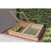 Semillero de alerce Madera 119x 80x H21/30cm hierbas Bancal para balcón y Terraza de jardín Mundo cerrojo Berger 61063
