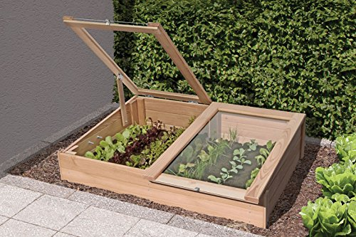 Plate-bande surélevée, DER Besondere Garten Lot plantes, légumes Parterre de jardin monde Verrou Berger 119x80x21/30 cm Lärche