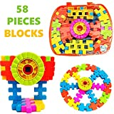 #7: Akhand 58 Pieces Learning Blocks for Kids with Bag Educational Toy Set