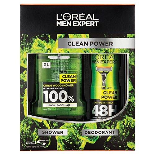 Image of L'Oreal Men Expert Clean Power Gift Set