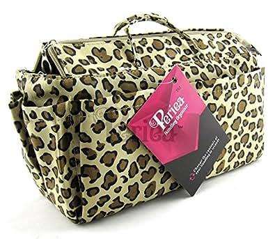 Periea Organiseur de sac à main 13 Compartiments + mousqueton GRATUIT - Léopard (jaune foncé) - Nikki
