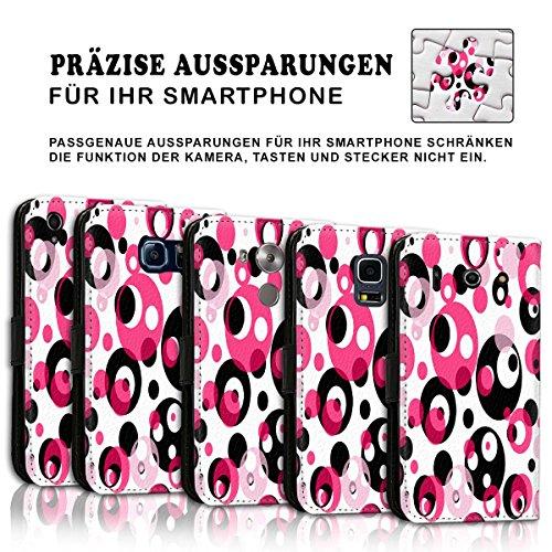 Wallet Book Style Flip Handy Tasche Case Schutz Hülle Schale Motiv Etui für Apple iPhone 5 / 5S - Variante UMV2 Design12 Design 3