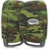 JVCV® Car Styling Soft Silicone Camouflage Key Cover Fit only for Push Button Start Hyundai Smart Key - (Green…