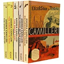 Andrea Camilleri Inspector Montalbano Mysteries Collection 5 Books Set Pack (The Voice of the Violin, Excursion to Tindari, The Shape of Water, The Terracotta Dog, The Snack Thief)