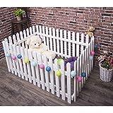 Haustierzaun, Hundehauszaunhundezaun-Plastik Teddy-Hundehütte des Innenhundezaunhauptwelpen guardrail mit Tür