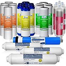 Paquete de suministro de 3 años para filtros iSpring 75GPD RO alcalinos de 6 etapas