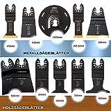 11tlg. Sägeblatt-SET Metallsägeblätter/Holzsägeblätter für Multimaster Fein, Bosch, Makita, Skil