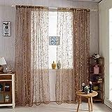 Sunlera Süße Schmetterlings-Tulle Voile Tür-Fenster-Vorhänge Drapieren Bloße Divider