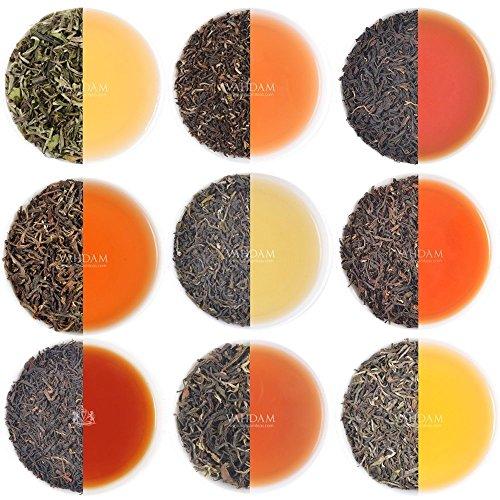 VAHDAM, Darjeeling Teesampler - 10 TEE, 50 Portionen | 100% reiner ungemischter Darjeeling-Tee Loose Leaf | Erster Flush, zweiter Flush, Autumn Flush | Brühen Sie heiß oder gefroren | 100g