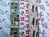 10 SHEETS OF MALE, FEMALE WRAPPING PAPER - BUTTERFLY, BIRDS, PRESENTS, FLOWERS, VINTAGE CARS, PEACOCK & HAPPY BIRTHDAY (2 sheets of 5 designs)