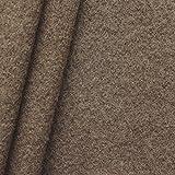 100% Wolle Walkloden Stoff Meterware Terra-Braun meliert