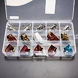 Kenthia 15pcs multicolores en acier inoxydable pouce doigt en celluloïd médiators avec étui