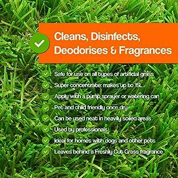 5litres Pro-kleen Gazon artificiel Nettoyant désinfectant Parfum floral + Désodorisant