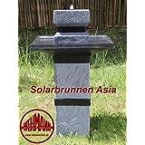 Solarbrunnen Asia Solarspringbrunnen Zengarten Brunnen Komplettset für Garten und Terrasse Tag und Nacht !!!