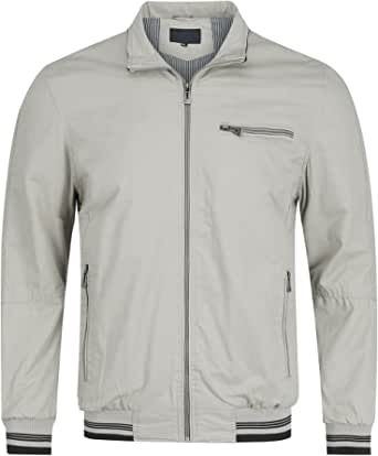Mens Lightweight Summer Jacket Casual Cargo Sports Jacket Lapel Bomber Jackets