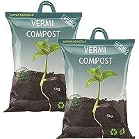 JAV Jaipur Agrigold Organic Vermicompost Fertilizer and Manure for Plants - 10 kg