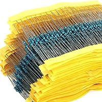 Kit de conjunto de resistores con 600 piezas, 30 Valores de 1ohm – 1 M de Ohm 1/4 W 1% película de metal