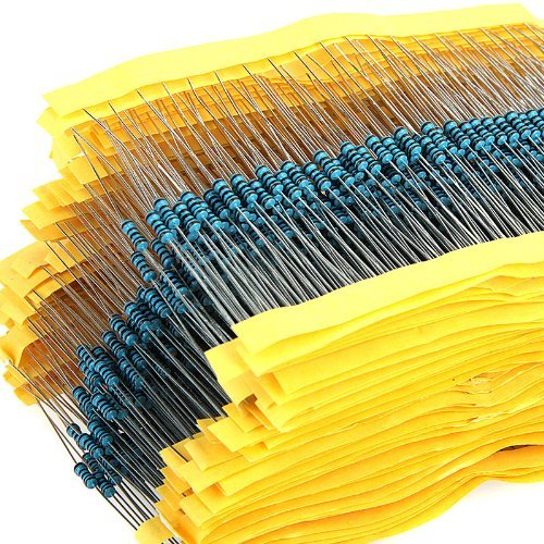 600pcs 30 Werte 1Ohm - 1M-Ohm 1/4W 1 % Metallfolie Widerstand Widerstände Sortiment Kit Set Rack-server-monitor