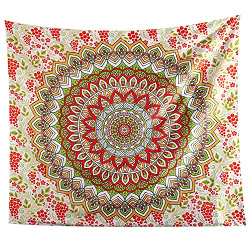 JOTOM Tapiz de Pared para Colgar en la Pared decoración para Dormitorio, Sala de Estar,Hogar (Mandala Rojo, 150_x_130_cm)