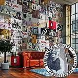 PURO TAPETE  3 Motive zur Auswahl  Realistische Tapete ohne Rapport und Versatz  Kein sich wiederholendes Muster  10m VLIES Tapetenrolle  Banksy f-A-0237-j-b