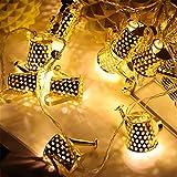 Luci Da Stringa A Led Per Annaffiatoio Da Giardino, Mini Lanterna Per Annaffiatoio In Metallo Lampada Da Fiaba Adatta Per Decorazioni Per Feste All'Aperto In Giardino Per Feste Di Natale, Bianco Caldo
