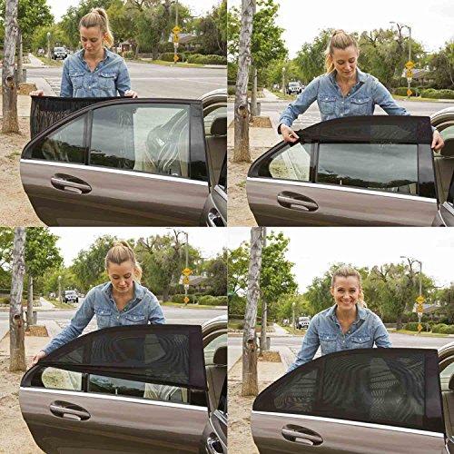 Universelle pour voiture pare-soleil pour fenêtre latérale arrière - Protège vos enfants du soleil, 2 Pièce