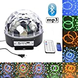 Besmall RGB LED USB Mp3 Discokugel Bluetooth Licht mit Fernbedienung