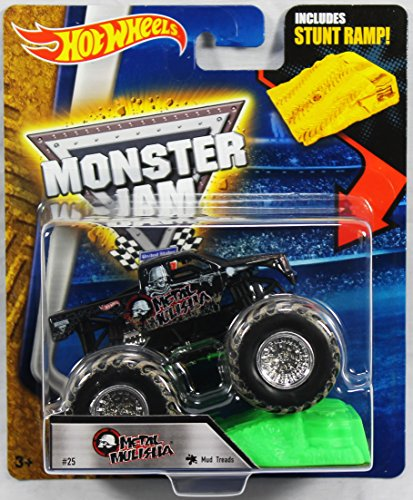 Hot Wheels Monster Jam 1:64 Scale - Metal Mulisha with Stunt Ramp #25 by Hot Wheels