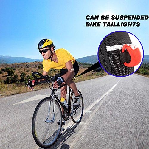 Fahrrad Satteltasche, Ubegood Kompakte Fahrradtasche Befestigungsriemen Aero Wedge Pack Satteltasche Mountainbike Bag für Handy, Werkzeug und Portmonnaie - Schwarz - 7