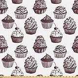 ABAKUHAUS Cupcake Stoff als Meterware, Köstliche Desserts