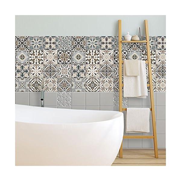 Wall art ps00025 adesivi in pvc per piastrelle per bagno e for Piastrelle in pvc adesive per cucina