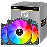 Antec Ventilateur 120 mm RGB, Ventilateur PC Haute Performance RGB, RGB 4 Broches, série F12, 3 Paquets