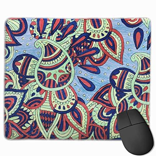 Silvia Henna Anti-Rutsch Personalisierte Designs Gaming Mouse Pad Schwarzes Tuch Rechteck Mousepad Kunst Naturkautschuk Mauspad mit genähten Kanten 25x30 cm