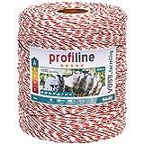 Voss.farming Filo per recinzioni elettriche, Lunghezza 1000 m, con Fili in Acciaio 8 x 0,2 e Un Filo in Rame 1 x 0,25, Colore Bianco/Rosso