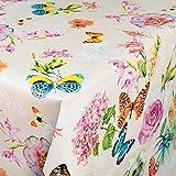 Wachstuch Wachstischdecke Wachstuchtischdecke abwaschbare Tischdecke Schmetterlinge