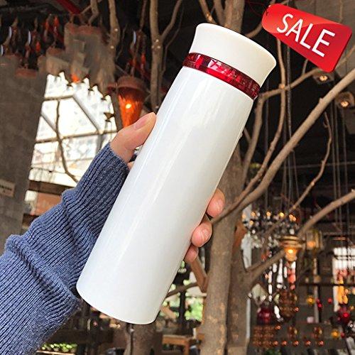 termo taza taza botella de agua botella taza aislante acero inoxidable vacío taza del coche portátil tazas de café cafetera botella de vacío botella aislada taza de té oficina negocio ( Color : A )