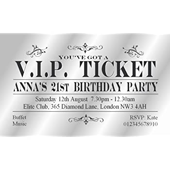 70 Personalised Magnetic Party Invitations