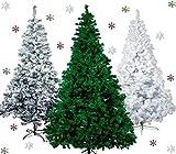 Künstlicher Weihnachtsbaum Tannenbaum 30,60,90,120, 150, 180,210 240cm Christbaum Baum GRÜN WEISS SCHNEE (90, GRÜN)