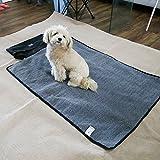 Foldable Pet Blanket Dog Waterproof Mat Portable Travel Design Outdoor Blanket Sleeping Mat in 2 Colors (gray)