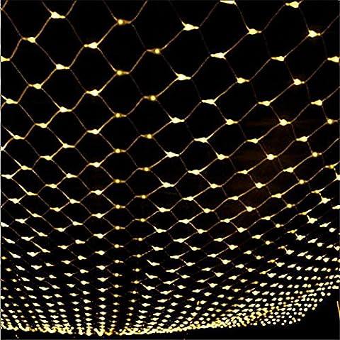 H&M 4m * 6m880 Led Net Lights Outdoor Waterproof Connectable LED Net Mesh Fairy String Lights pour intérieur Extérieur Maison Jardin Fête de noce de Noël Hôtel Festival Décoration Mood Lights Landscape Lights , warm white