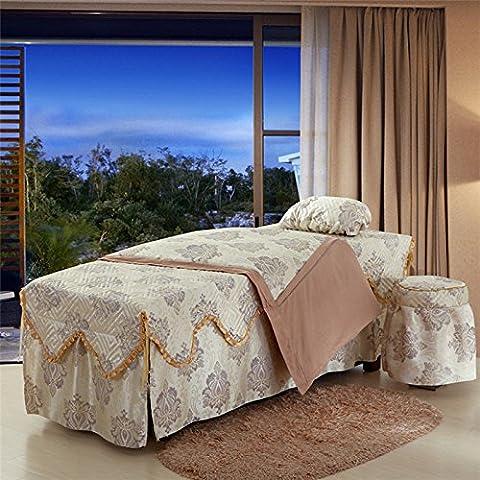 Beauty bedspread Salón de belleza SPA-pieza/cuatro cama colcha colcha/masaje camas
