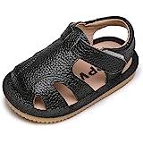 Sandalias Verano Bebé Niñas Niños Zapatos Cuero Suave de Primeros Pasos Bebé Ninos Calzado Playa Antideslizante Puntera Cerra