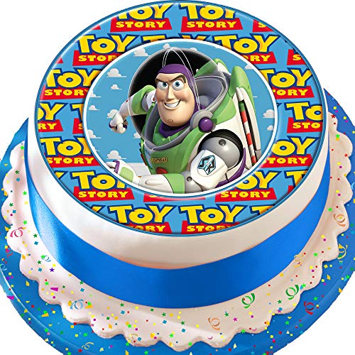 Kuchendekoration Toy Story-Charakter Buzz Lightyear, 19,1 cm, essbar, Zuckerguss