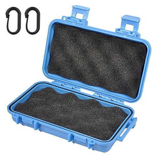 Wasserdichte Box Stoßfest Tragbare Trocken Aufbewahrungsbox mit 2 U Form Schnalle für Angeln Camping Wandern Outdoor-Aktivitäten ( Farbe : Blau , Abmessung : L )