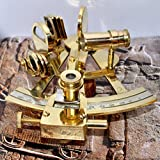 "4"" Collectible German Working Instrument Marine Solid Brass Sextant by Nauticalmart"