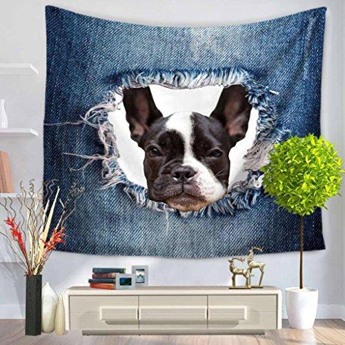 Niedliche Hund Dekor Tapisserie Wand hängende Mandala Böhmen Tapisserie , B , 150*200