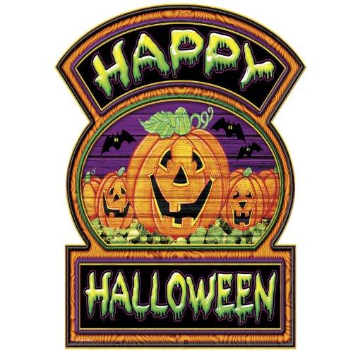 Beistle 0144612Happy Halloween-Schild, 12Zoll von 16-3/4-Zoll
