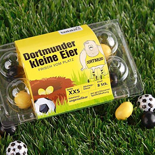 Dortmunder Kleine Eier Oster-Überraschung gemein leckere Schokoeier frisch vom Platz, zum Ärgern von Dortmund Fans| Süßigkeiten Schokonüsse Dragees