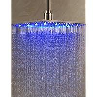 12 pollici in acciaio inox soffione doccia con luce led cambia colore