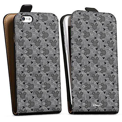 Apple iPhone X Silikon Hülle Case Schutzhülle Disney Mickey Mouse Geschenke Fanartikel Downflip Tasche schwarz